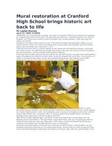 Mural restoration at Cranford High School brings historic art back to life