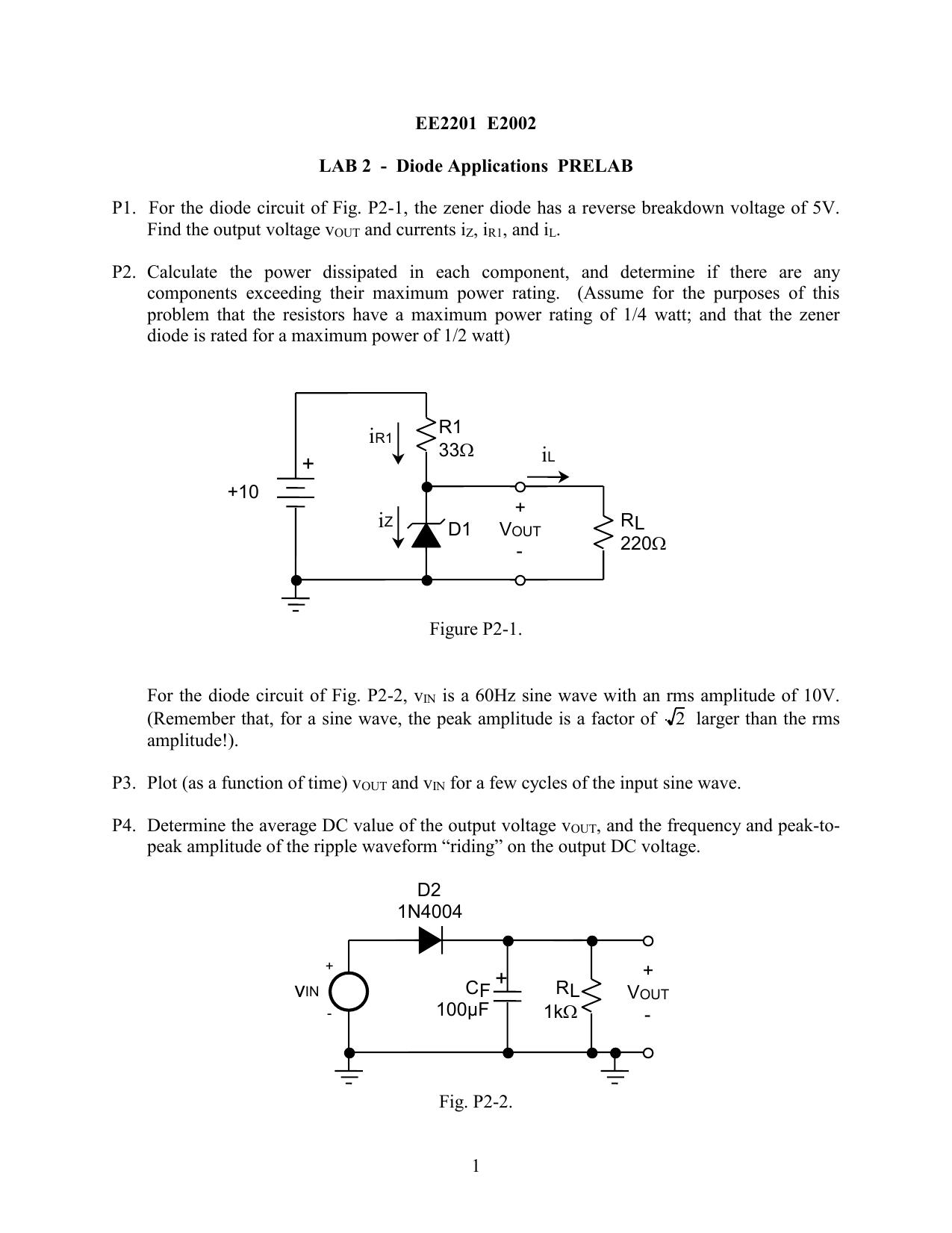 full wave rectifier with zener diode regulator