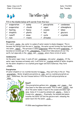 Water cycle worksheet watercycleworksheetc water cycle cloze science ccuart Images