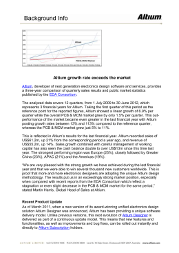 Altium growth rate exceeds the market Altium, developer of next