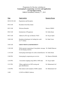 "Programme for ""One day workshop on varietal purity test through"