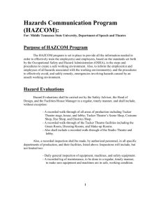 Hazard Communication Program - Middle Tennessee State University