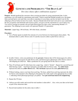Dihybrid Cross Worksheet Use the table below to answer the