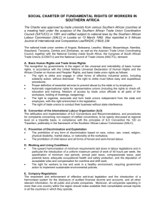 social charter of fundamental rights of workers in southern africa