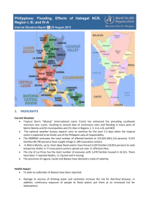 Philippines: Flooding, Effects of Habagat NCR, Region I, III, and IV