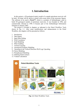 Introduction In this project, a 3D geological (static) model of a