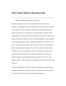 First Coital Affective Reaction Scale