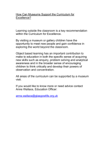 How Can Museums Support the Curriculum for