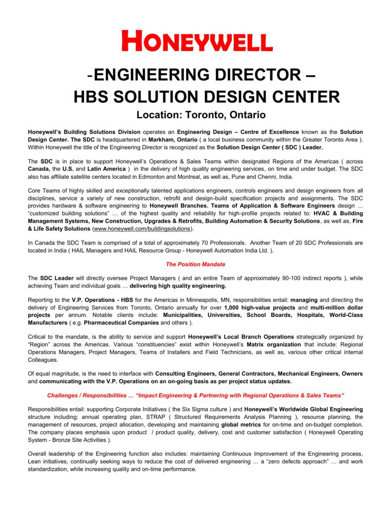 Honeywell Engineering Director Hbs Solution Design,Game Design Document Example Pdf