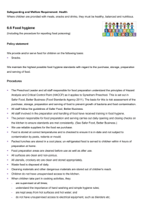 Policy 6.6 Food Hygiene