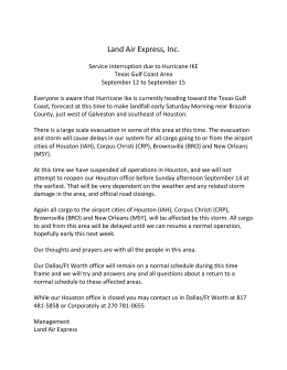 Land Air Express, Inc. Service interruption due to Hurricane IKE