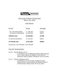 2015 Spring Sale - Thomas Angus Ranch