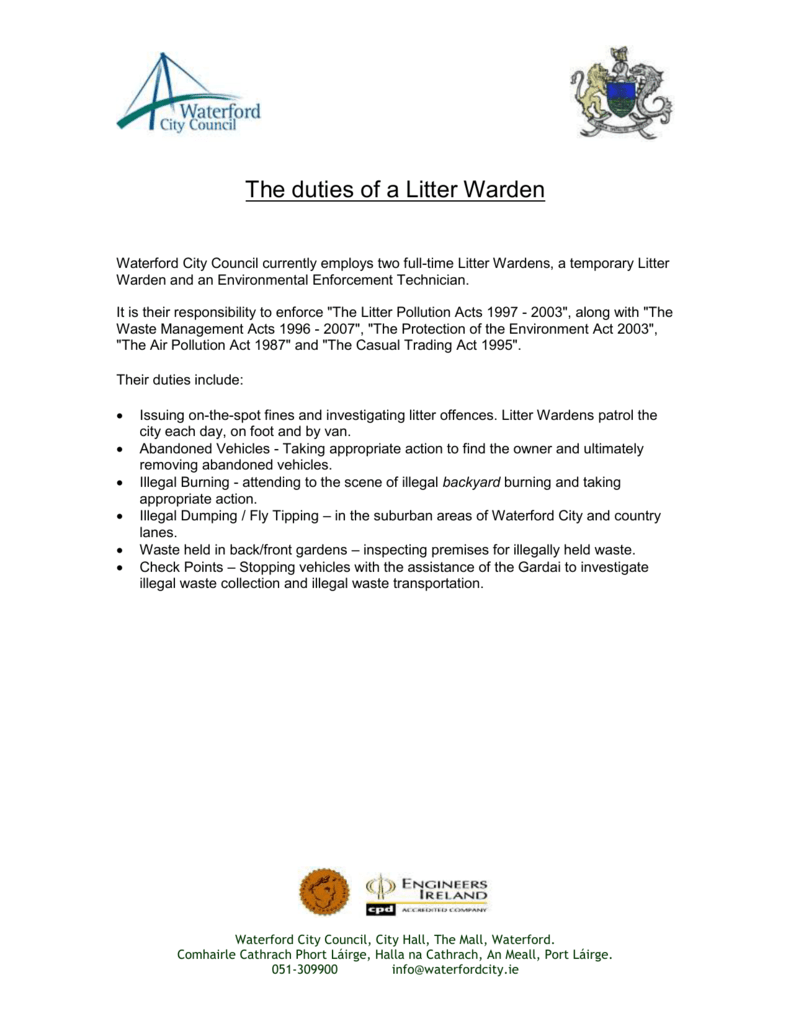 duties of warden