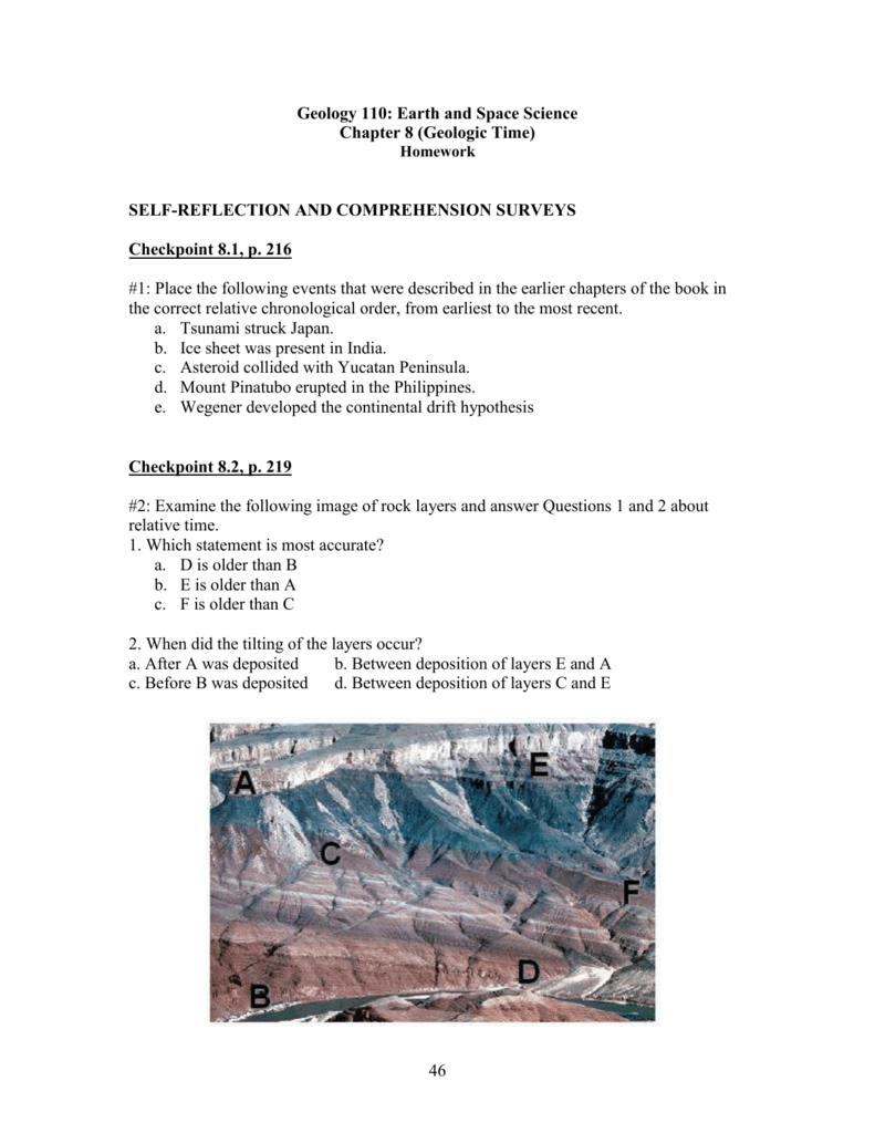 Geology 110 Earth And Space Science