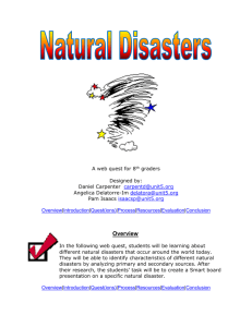 Natural Disasters - Teaching with Primary Sources at Illinois State