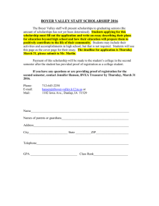 boyer valley staff scholarship - Boyer Valley Community Schools
