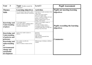 Geography Assessment - Year 3 - Hertfordshire Grid for Learning