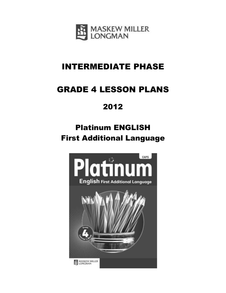 term 2: platinum lesson plans – grade 4