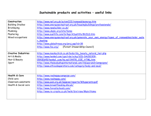 Sustainable products useful links