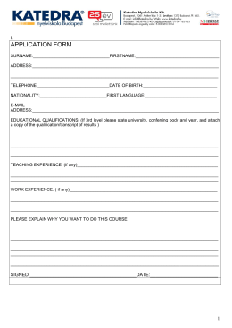 Please the enclosed application form and pre