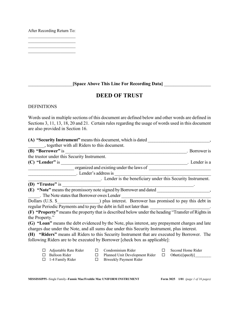 mississippi deed of trust form - pike.productoseb.co