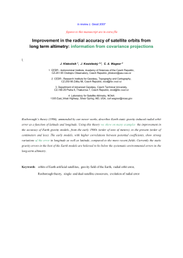 Improvement in the radial accuracy of satellite orbits from