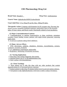 1301 Pharmacology Drug List