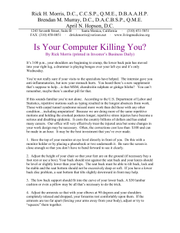 Is Your Computer Killing You