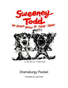 Sweeney Todd Dramaturgy Packet - The Lyric Stage Company of