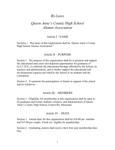 QACHS AA By Laws FIN.. - Queen Anne`s County Public Schools
