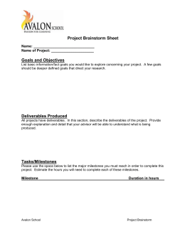 Project Brainstorm Sheet