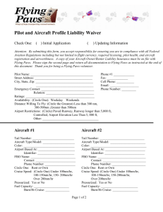 Pilot/Aircraft Liability Waiver