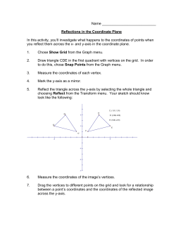 Name Reflections in the Coordinate Plane In this activity, you`ll