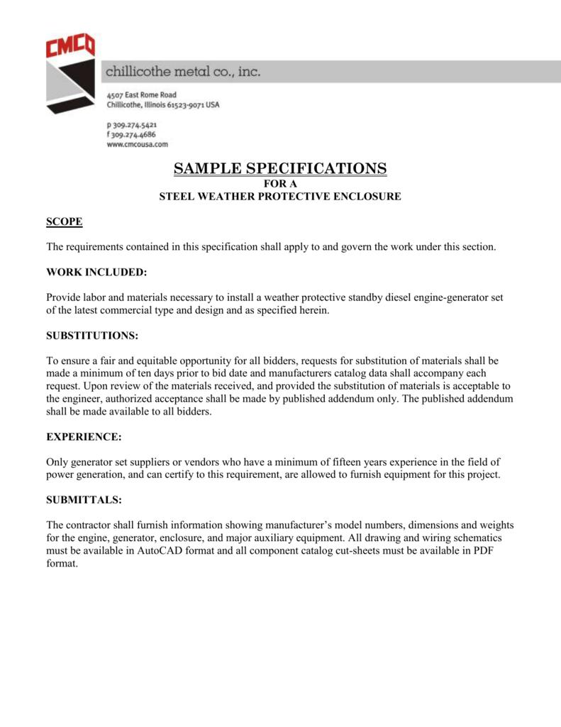 Steel Enclosures - Chillicothe Metal Co , Inc