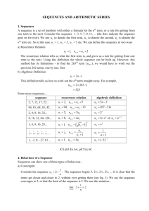 sequences and series