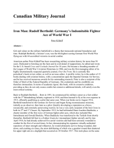 Iron Man: Rudolf Berthold: Germany`s Indomitable