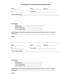 Rodent anesthesia record non surgical anesthesia records log sheet maxwellsz