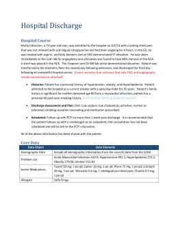 Sample discharge summary template. Discharge summary template.