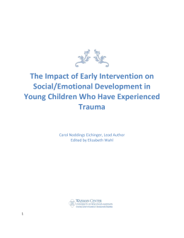 The Impact of Early Intervention on Social/Emotional Development