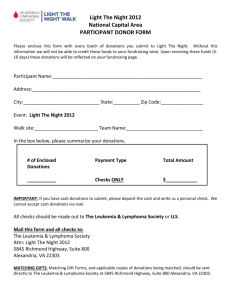 PARTICIPANT DONOR FORM