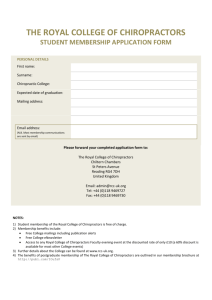 RCC Student Membership Application Form