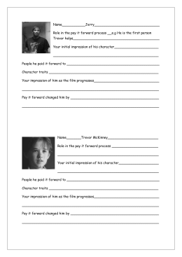 character profile worksheet