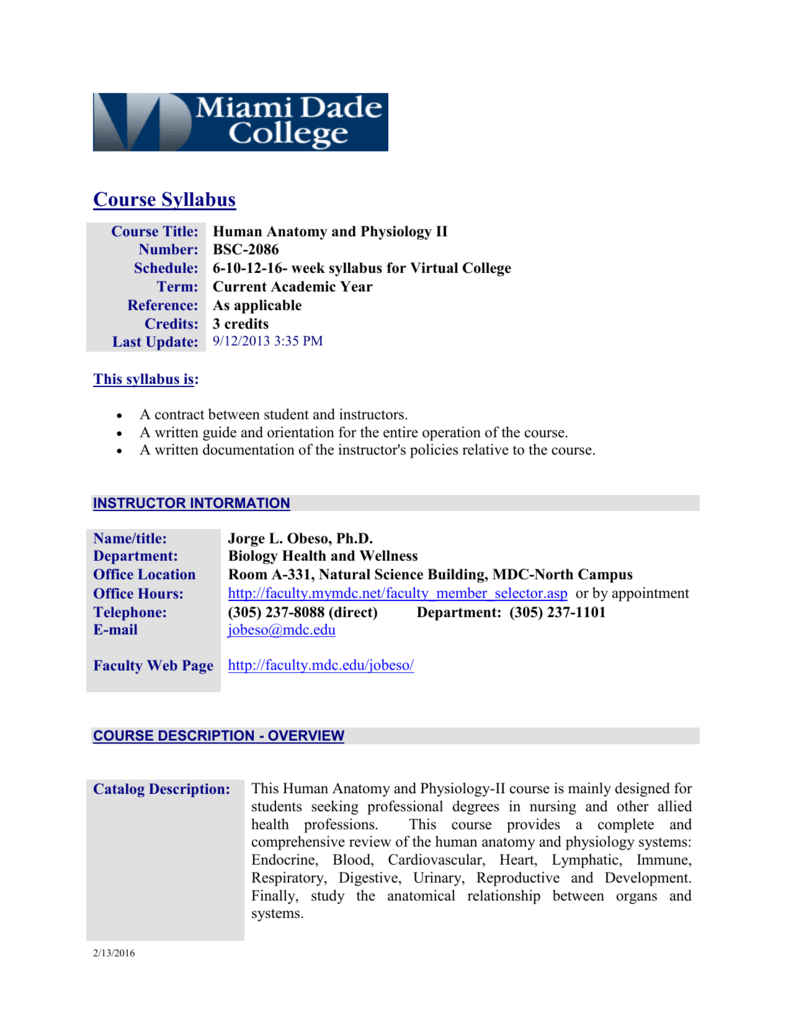 Syllabus Components - MDC Faculty Home Pages