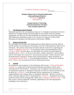 Bloodborne Pathogens Policy