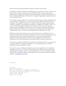 Research associate/postdoctoral fellow position at SUNY at Stony