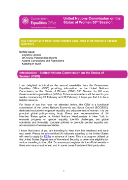 Newsletter 2- Commission on the Status of Women (CSW)