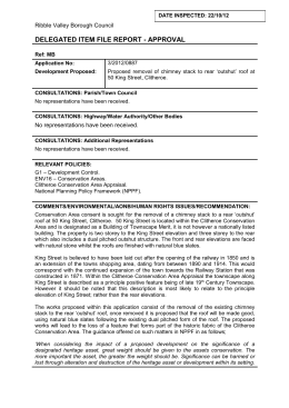 Delegated report 320120887 - Ribble Valley Borough Council