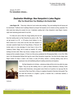 Destination Weddings - Lakes Region Association