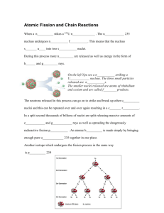 Atomic Fission and Chain Reactions File