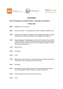 New Technologies and Child Protection: Challenges and Solutions